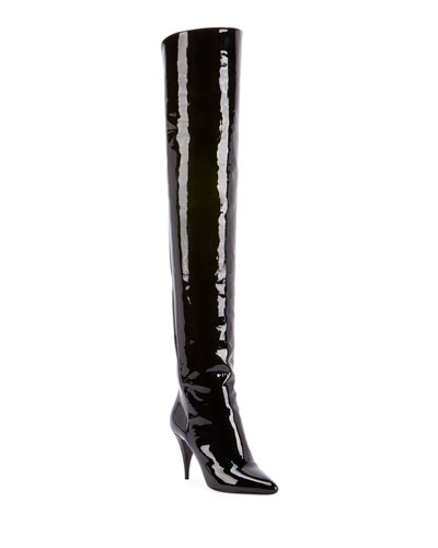 Kiki Patent Over-The-Knee Boots