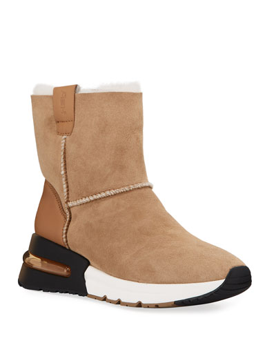Kyoto Suede Bootie with Shearling
