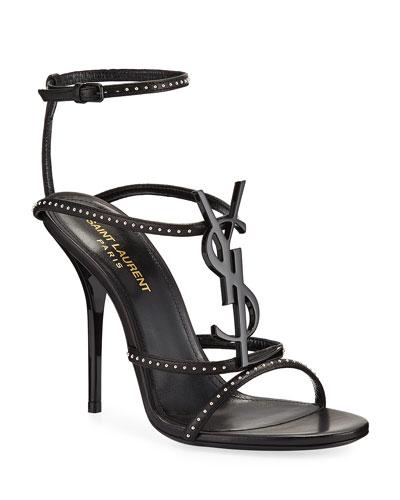 Cassandre Studded Logo Sandals