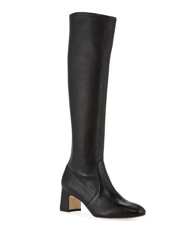 Milla Stretch-Napa Knee Boots