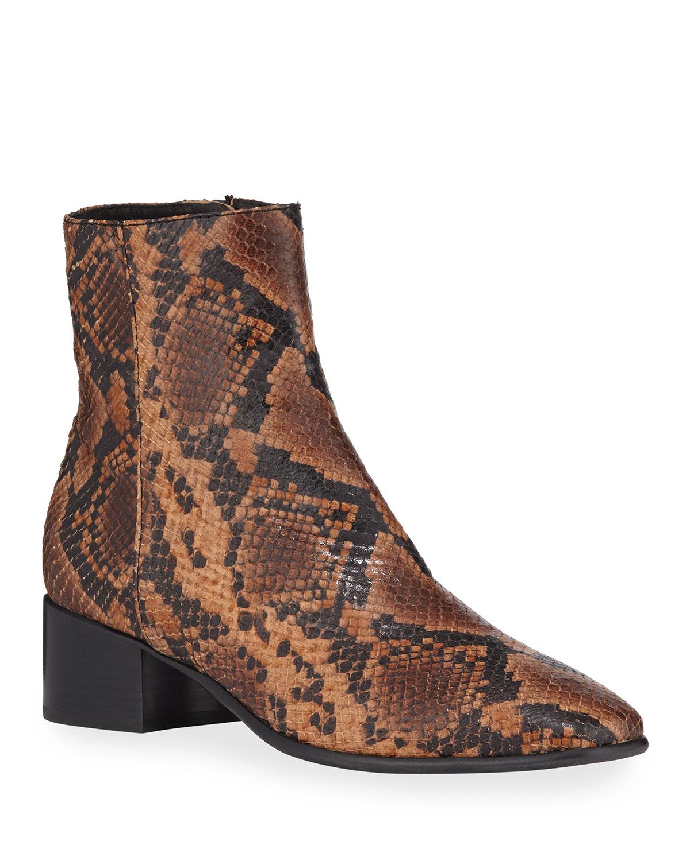 Aslen Mid-Top Snake-Print Boots