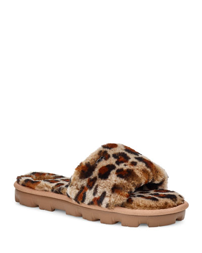 Cozette Leopard Slide Slippers