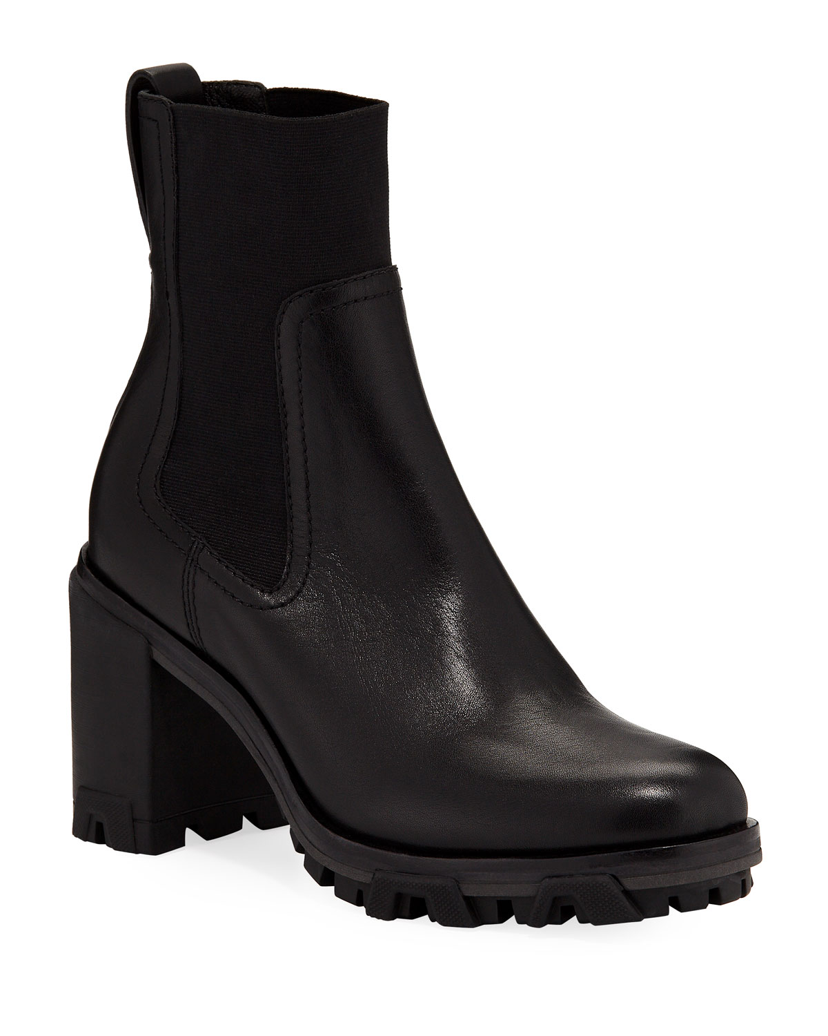 Shiloh High Gored Booties, Black