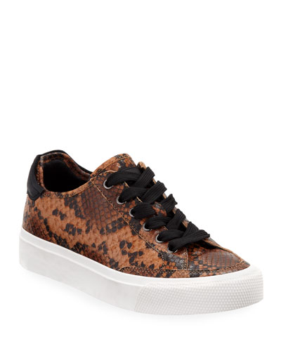 Army Snake-Print Low-Top Sneakers
