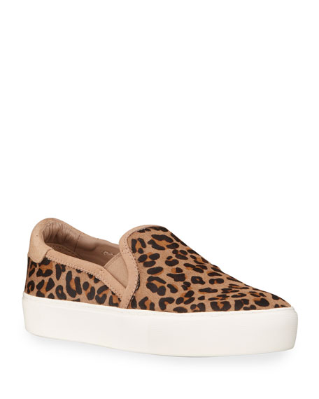 UGG Jass Leopard Calf Hair Sneakers