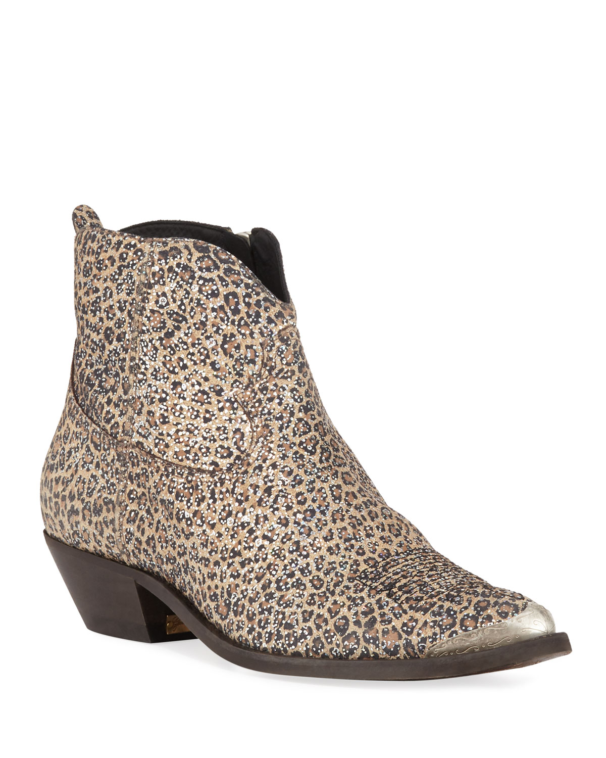Young Leopard Sparkle Booties