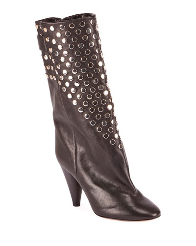 Lakfee Studded Cone Booties