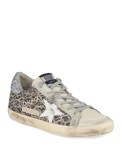 Superstar Leopard Embellished Sneakers