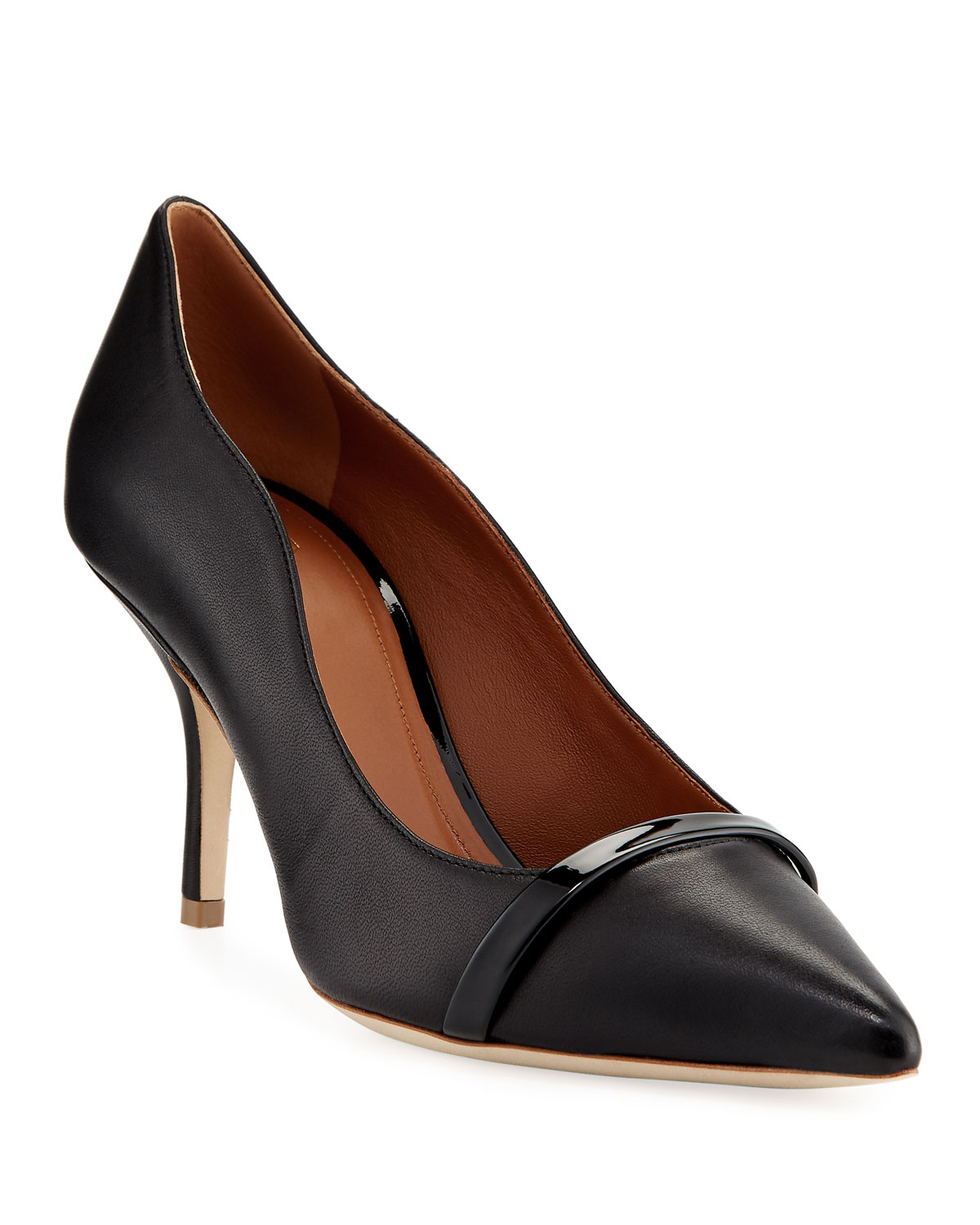 Maybelle 70mm Scalloped Leather Pumps