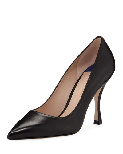 Tippi 95mm Leather Point-Toe Pumps