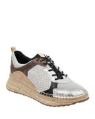 Marc Fisher LTD Janette 4 Mixed Espadrille Sneakers