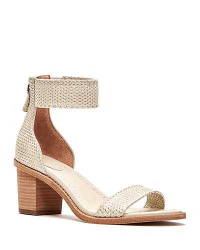 Brielle Metallic Back Zip Sandals