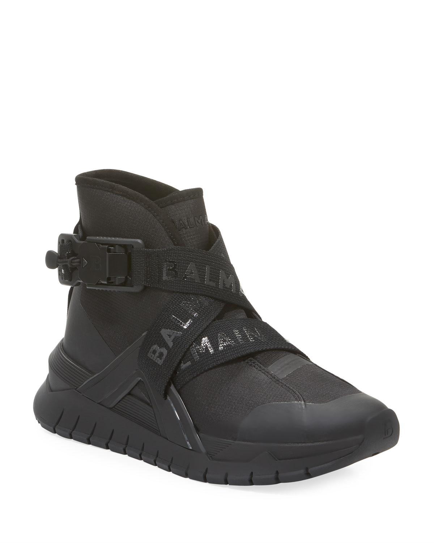 Troop Strappy High-Top Sneakers
