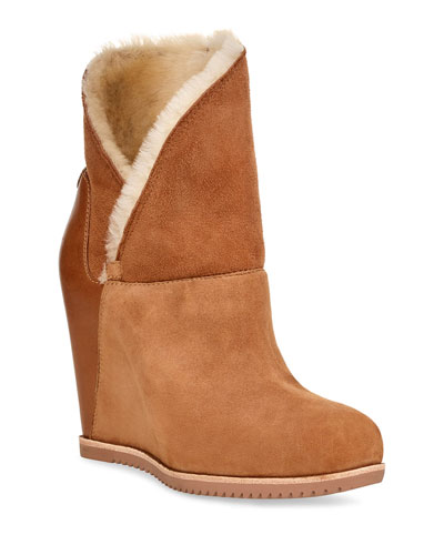 Classic Mondri Cuff Wedge Booties