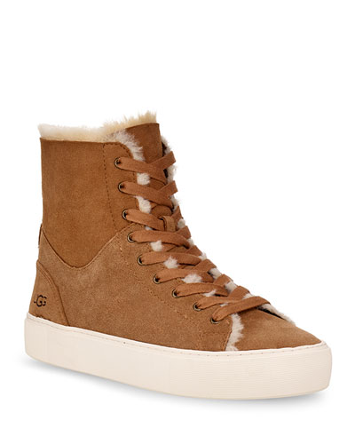 Beven Fur-Lined High-Top Sneakers