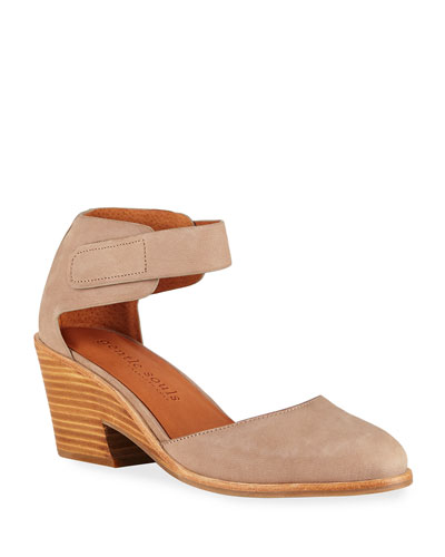 Blaise Nubuck Leather Wedge Pumps