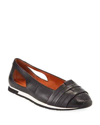 Luca Cutout Leather Comfort Flats