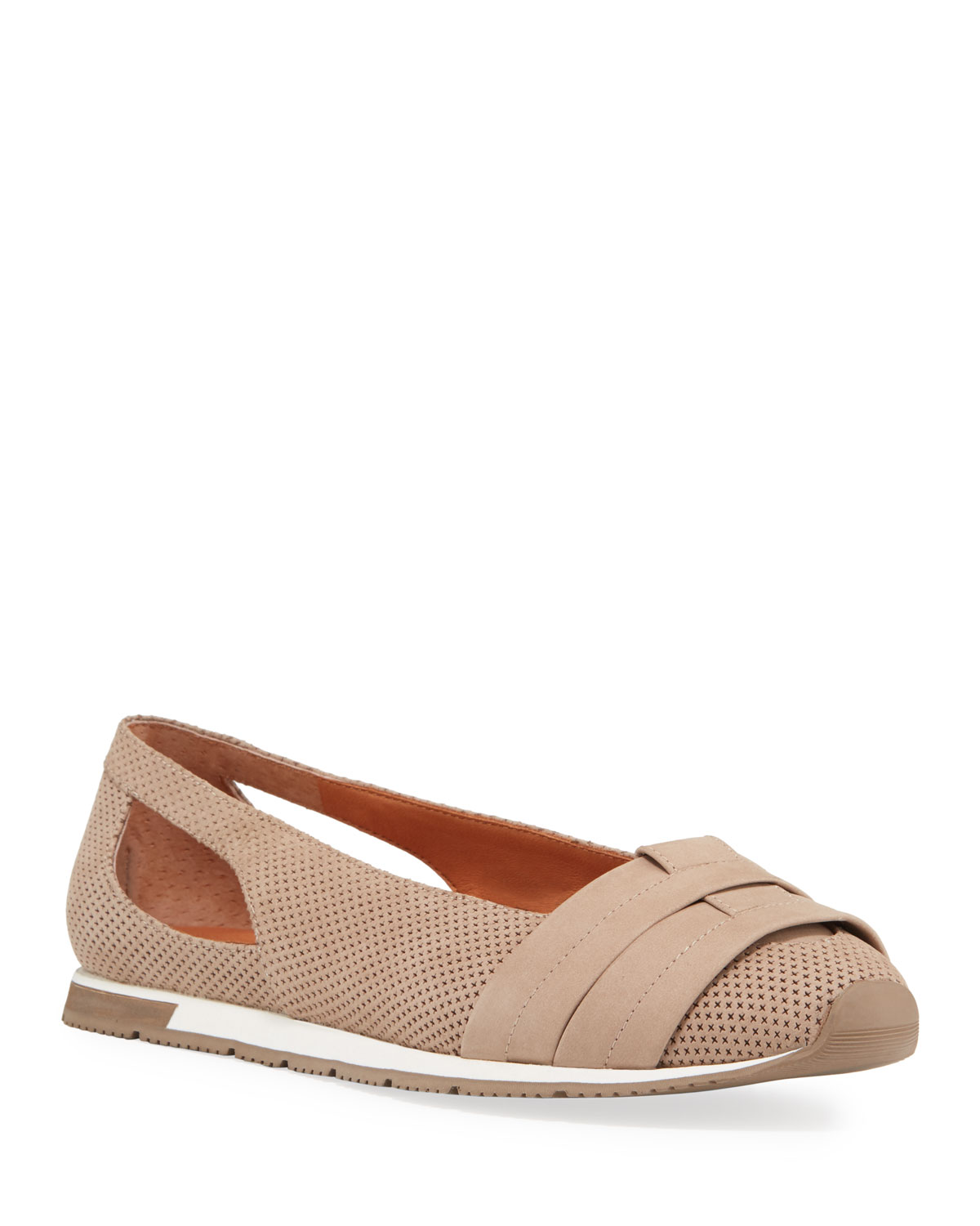 Luca Cutout Perforated Leather Comfort Flats