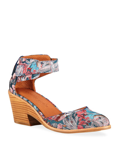 Blaise Floral Fabric Wedge Pumps