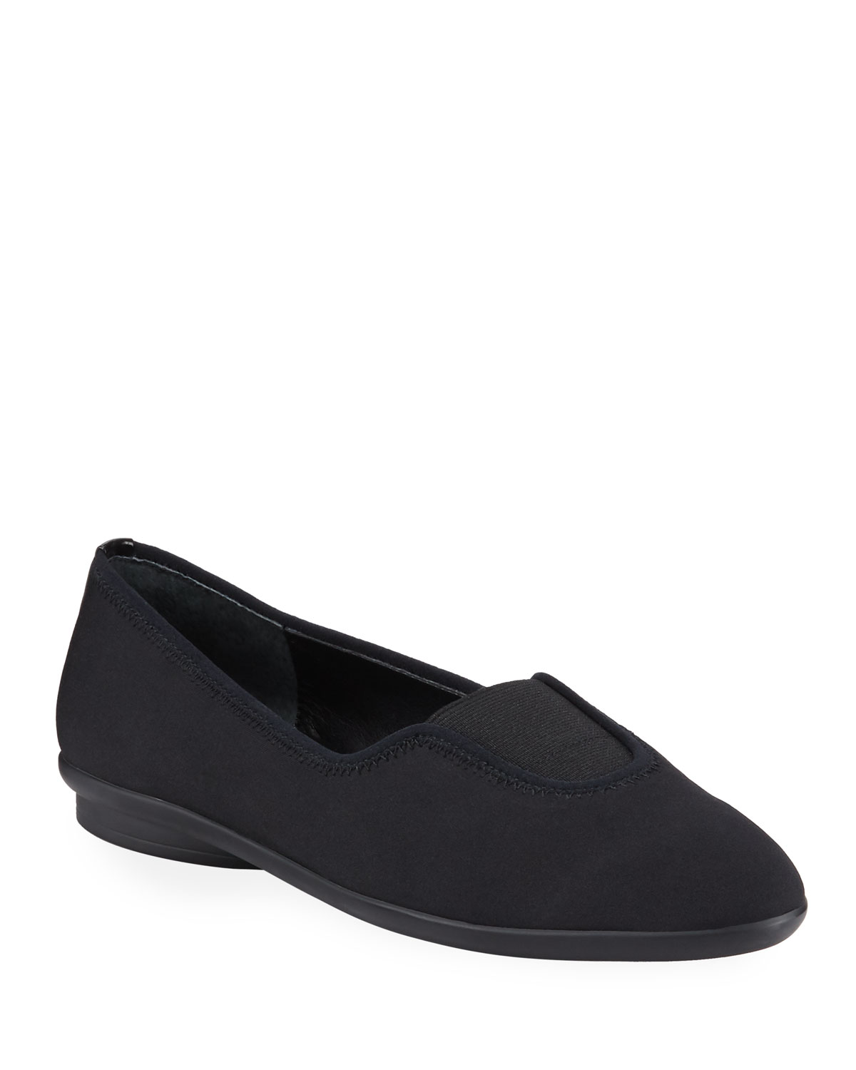 Malti Stretch Crepe Loafers