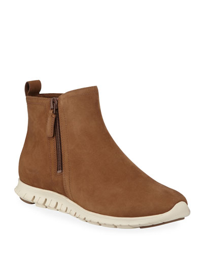 Zerogrand Waterproof Zip Booties, Bison Brown