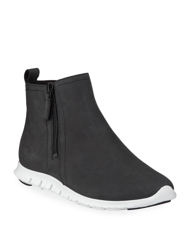 Zerogrand Waterproof Zip Booties, Black
