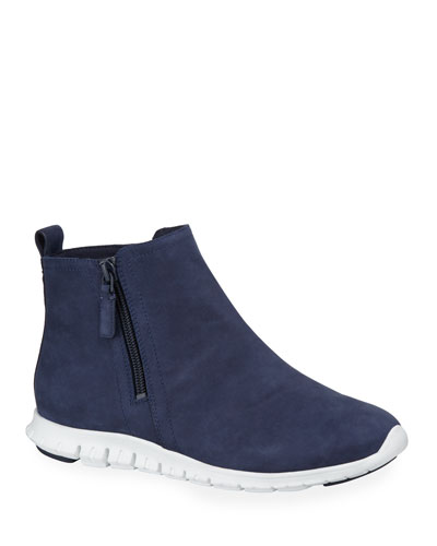 Zerogrand Waterproof Zip Booties, Blue
