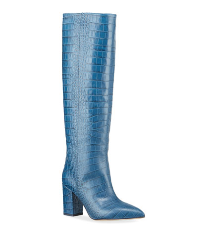 Moc-Crocodile Knee Boots