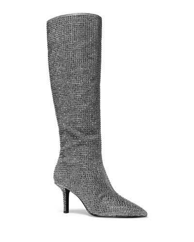 Katerina Crystal Knee Boots