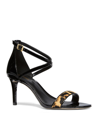 Ava Patent and Leopard Sandals