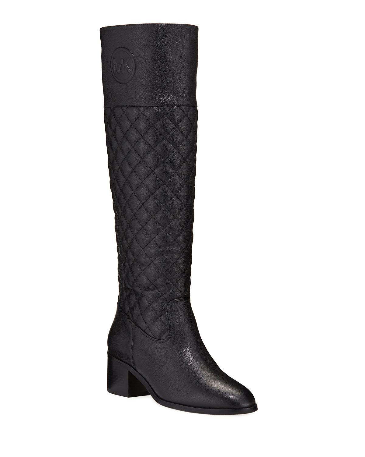 Dylyn Leather Zip Knee Boots