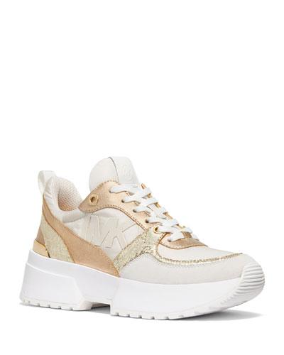 Ballard Metallic Trainer Sneakers