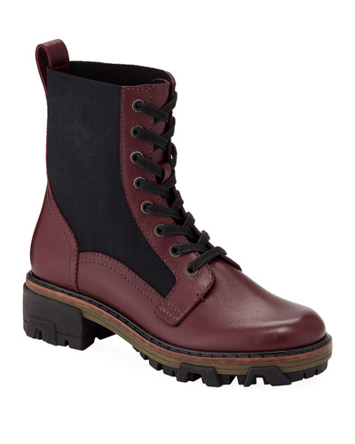 Shiloh Leather Gored Hiker Boots