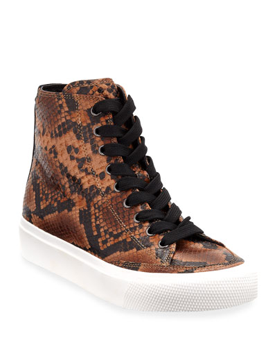 Army Snake-Print High-Top Sneakers