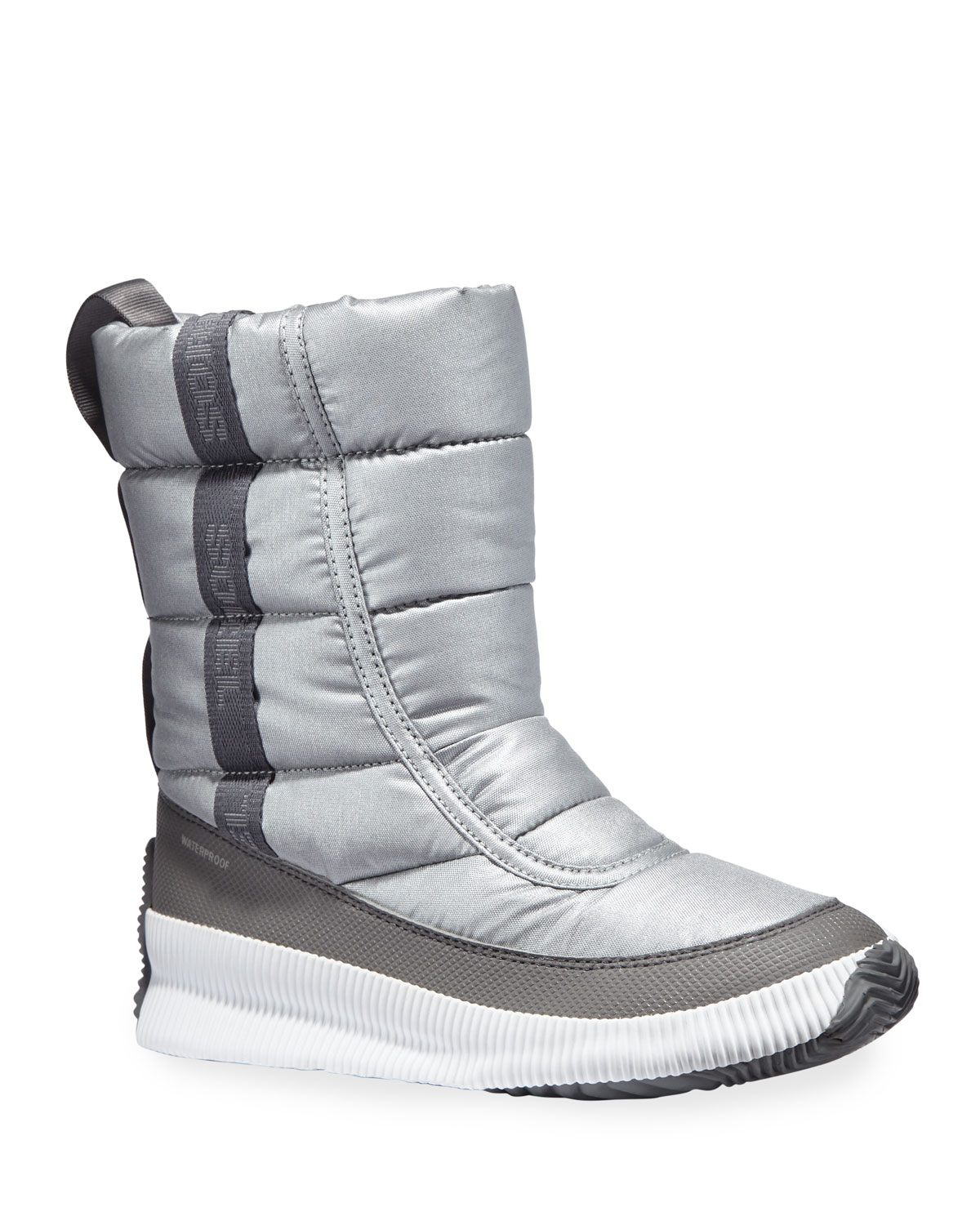 Out 'N About Mid Puffy Metallic Waterproof Boots