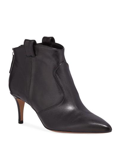 Lexi Leather Zip Booties