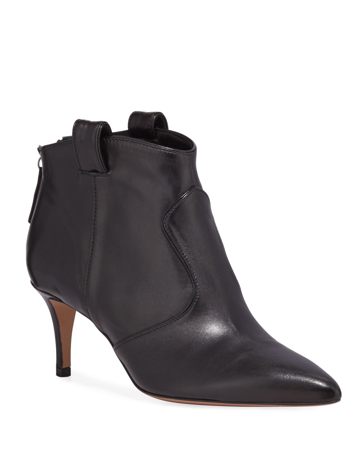 Lexi Leather Zip Booties