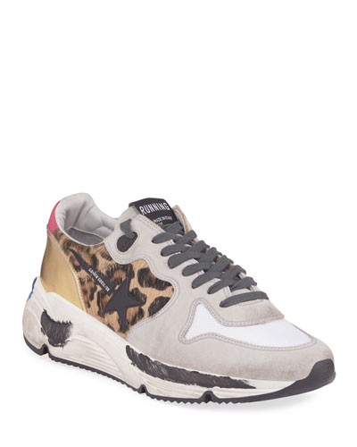 Leopard Mixed Running Sneakers