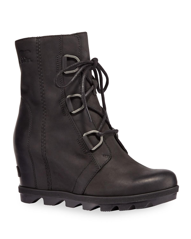 Joan Wedge Waterproof Leather Booties