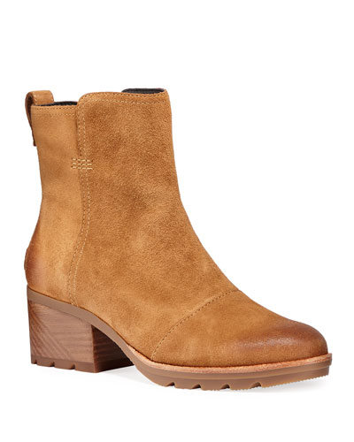 Cate Waterproof Suede Booties