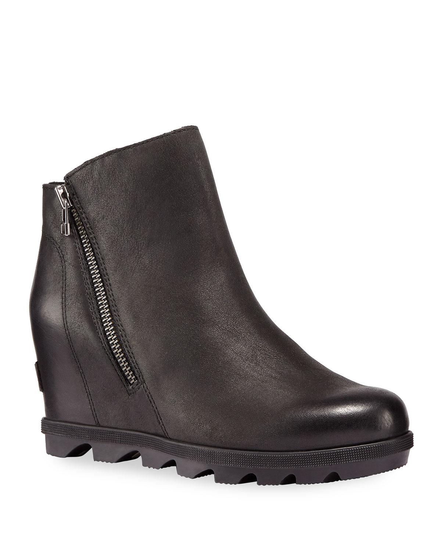 Joan of Arctic Wedge II Waterproof Leather Zip Boots