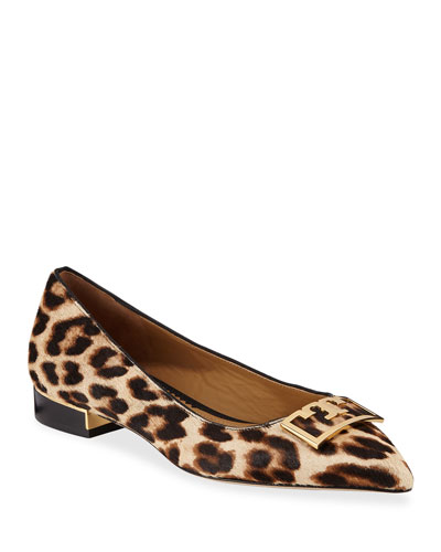 Gigi Pointed Leopard Ballet Flats