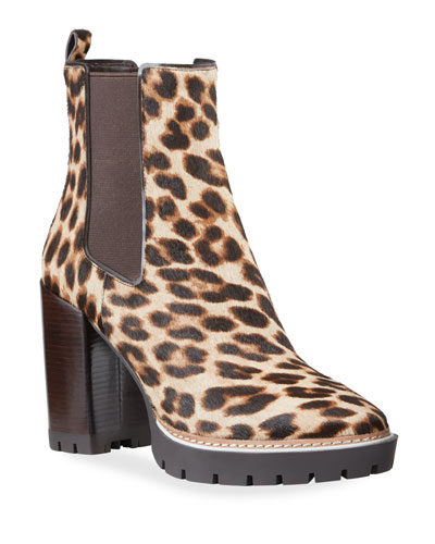 Miller Leopard Calf Hair Booties