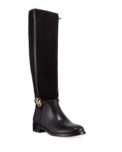 Miller Suede Logo Knee Boots