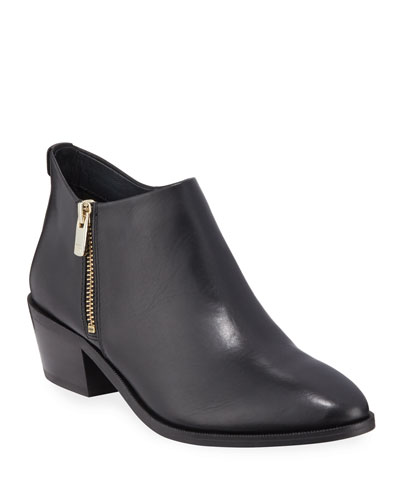 Sara Leather Ankle Booties