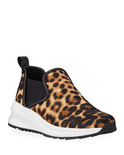 Zayda Leopard-Printed Athleisure Sneakers