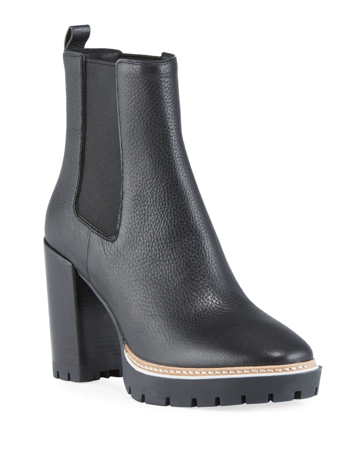 Miller Gored Leather Booties