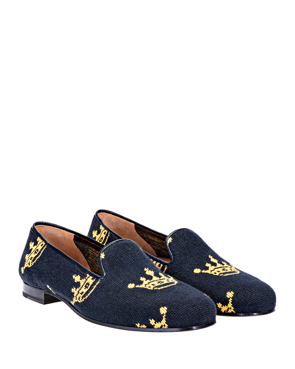 Coronet Needlepoint Slippers