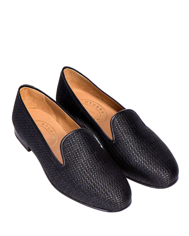 Woven Raffia Flat Slippers