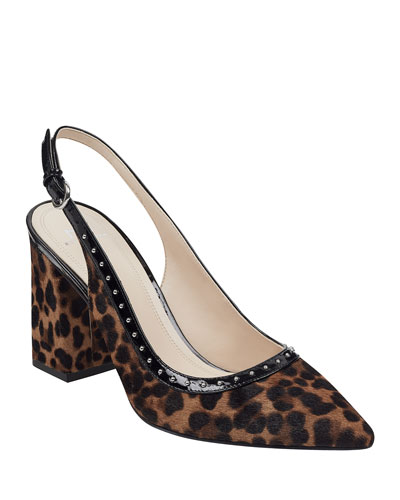 Joily Leopard Studded Pumps